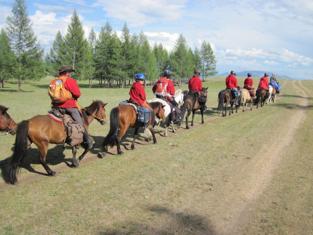 Famille en Mongolie
