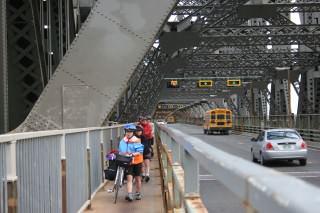 Traversée du pont de Québec