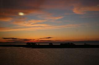 Couché de soleil sur la baie des chaleurs