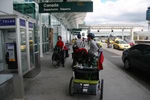 À Vancouver avec nos vélos