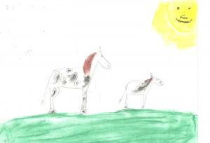 dessin chevaux Danièle